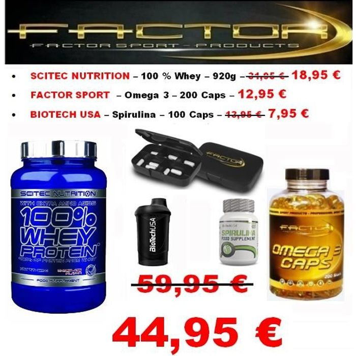 Scitec Whey Protein Biotech Pack Omega 3