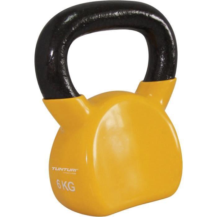 TUNTURI Kettlebell vinyle 4kg jaune