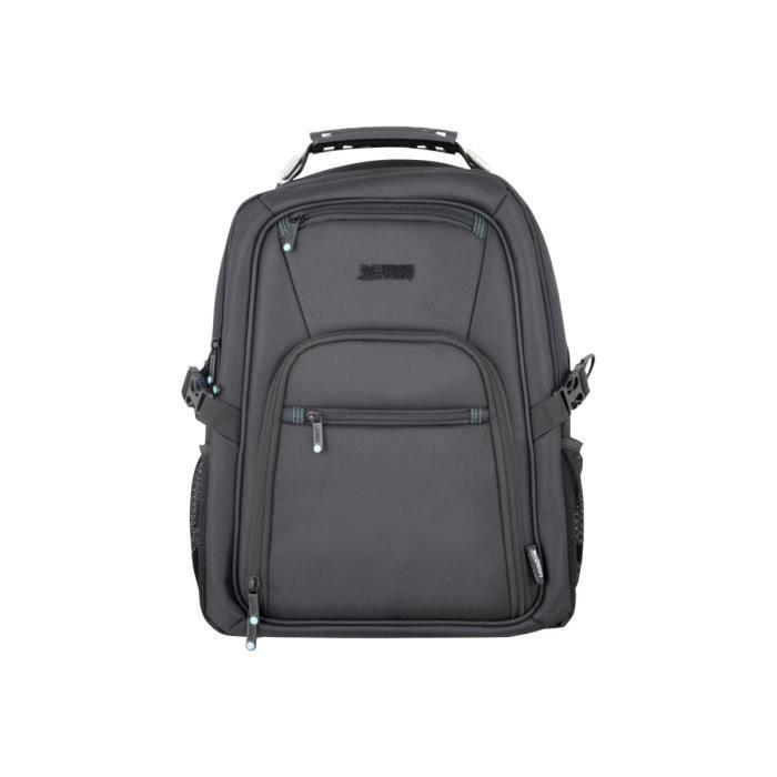 URBAN FACTORY Sacoche de transport - Sac à dos Style pour Ordinateur Portable 43,9 cm (17,3-) - Noir - Étanche - Acier Manche