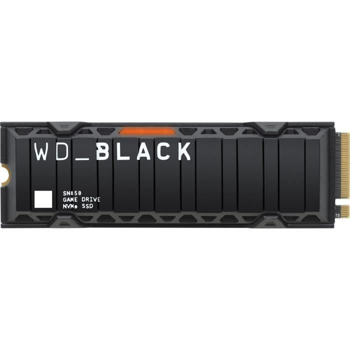 WD Black™- Disque SSD Interne RGB - SN850 - 500Go - M.2 NVMe Dissipateur de chaleur (WDS500G1XHE)