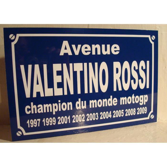 plaque de rue place VALENTINO ROSSI moto gp objet collector cadeau pour fan VALENTINO ROSSI