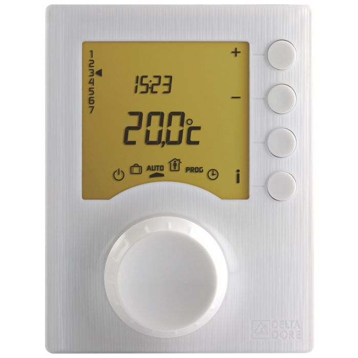 thermostat d 39 ambiance programmable pour chaud achat vente thermostat d 39 ambiance. Black Bedroom Furniture Sets. Home Design Ideas