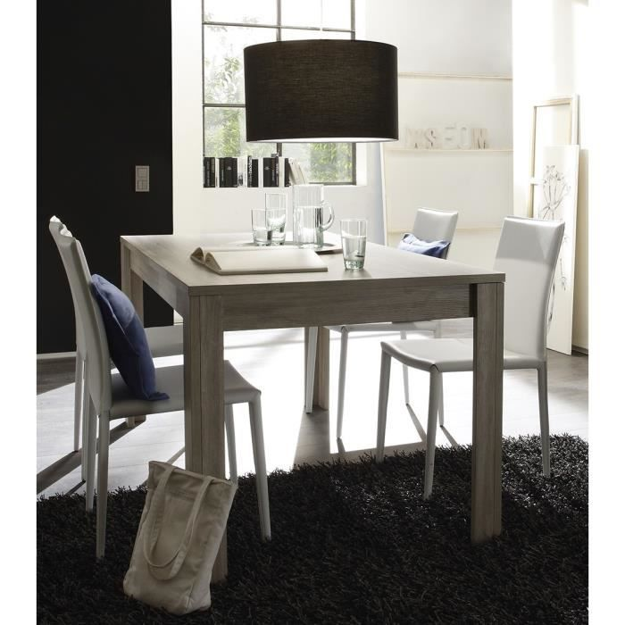 table de salle manger contemporaine elsa table l 160 x p 90 x h 79 cm achat vente. Black Bedroom Furniture Sets. Home Design Ideas