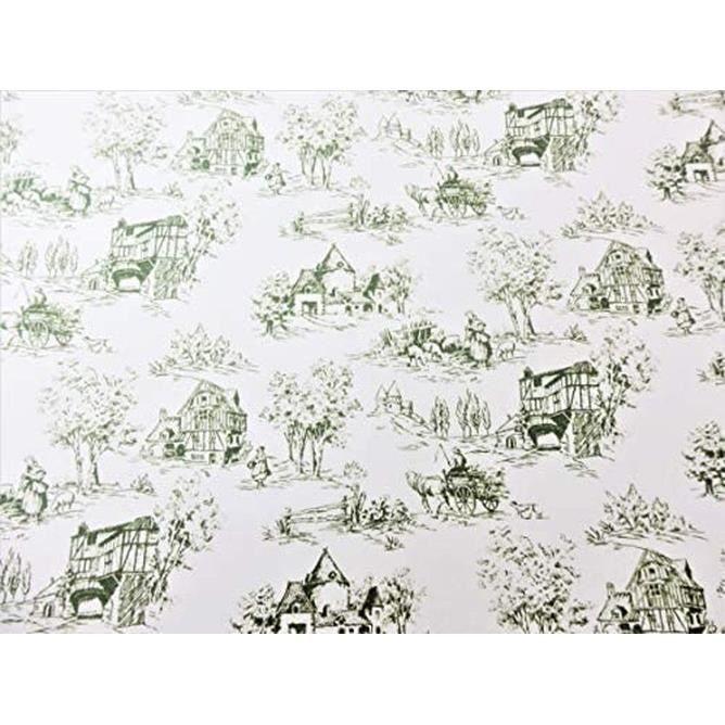 Maison De Poupées Toile De Jouy Vert Sur Blanc Miniature Image Imprimé Papier Peint 1 12 Achat Vente Peluche Cdiscount