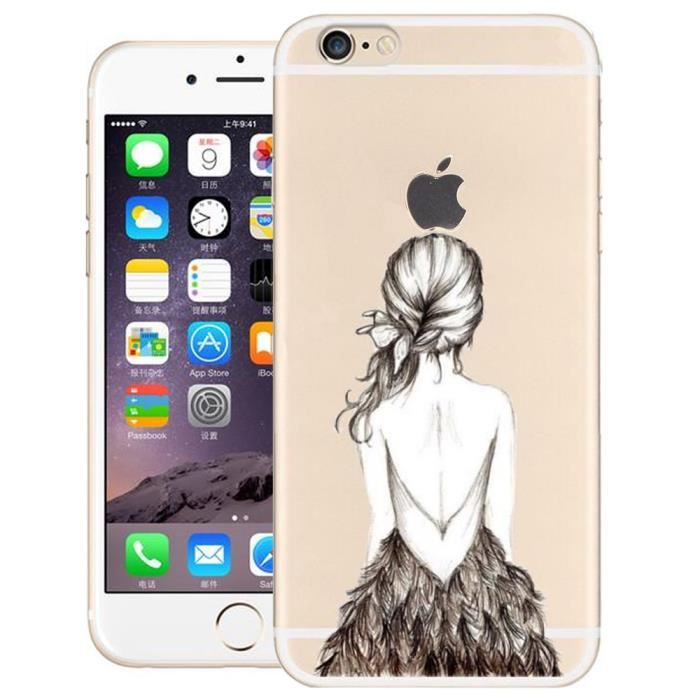 transparente case iphone 5 coque iphone 5s housse 3d relief fille dos nu ultra mince clair. Black Bedroom Furniture Sets. Home Design Ideas