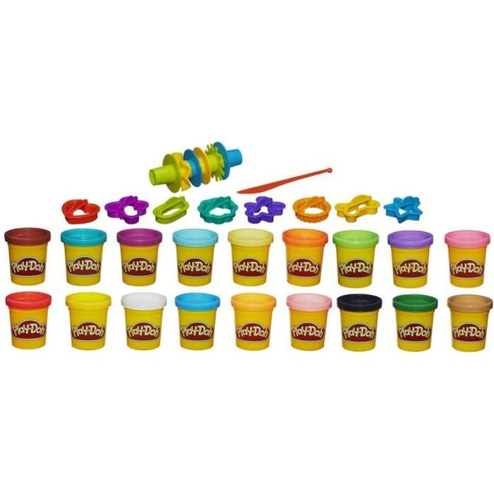 play doh 18 pots de p te modeler achat vente jeu de p te modeler cdiscount. Black Bedroom Furniture Sets. Home Design Ideas