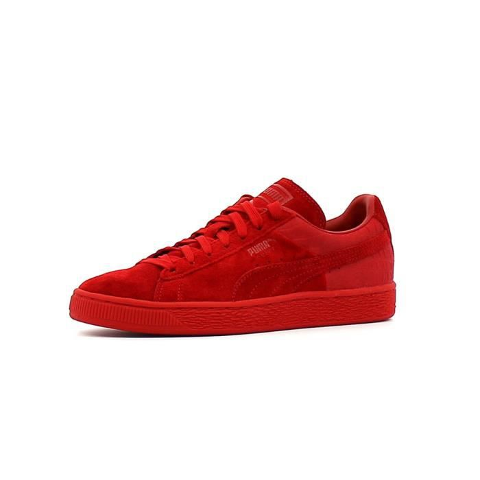 baskets basses puma suede classic casual rouge rouge achat vente basket soldes cdiscount. Black Bedroom Furniture Sets. Home Design Ideas