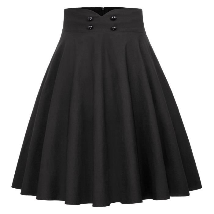 Swing 50s Taille Party For Women's Gf560 Style Skirt With Pockets 34 3utlpm Pleated Cocktail Tea kTwPuOXiZ