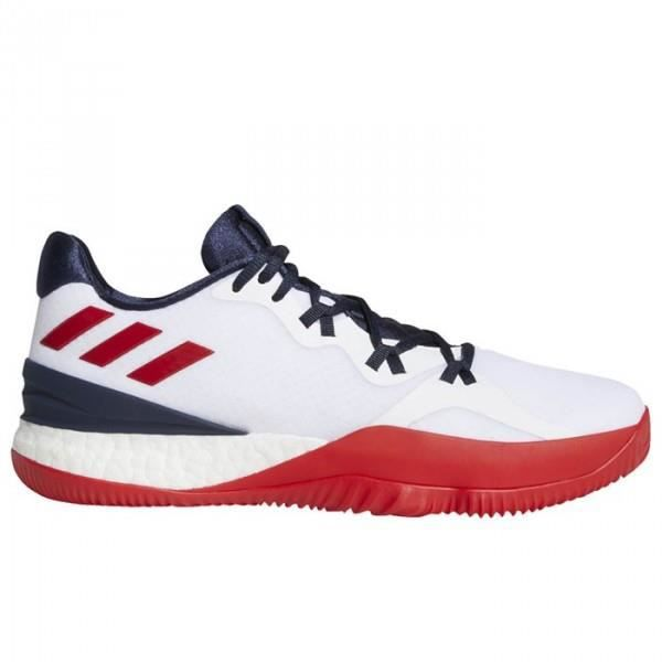 03e92df75e229e Chaussure de Basketball adidas Crazy Light Boost 2 2018 Low team USA Blanc  pour Homme