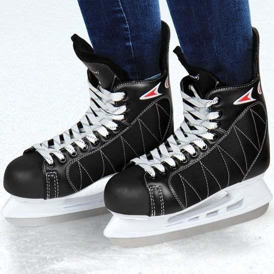 KIT SPORT DE GLACE Patins de hockey sur glace en noir - Taille 43