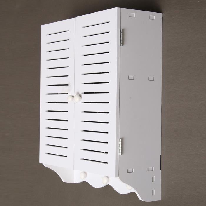 Meuble de rangement de toilettes ou salle de bains avec 2 portes