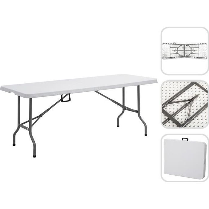 Table Pliante Transportable, Table en Plastique Robuste, 240 ...