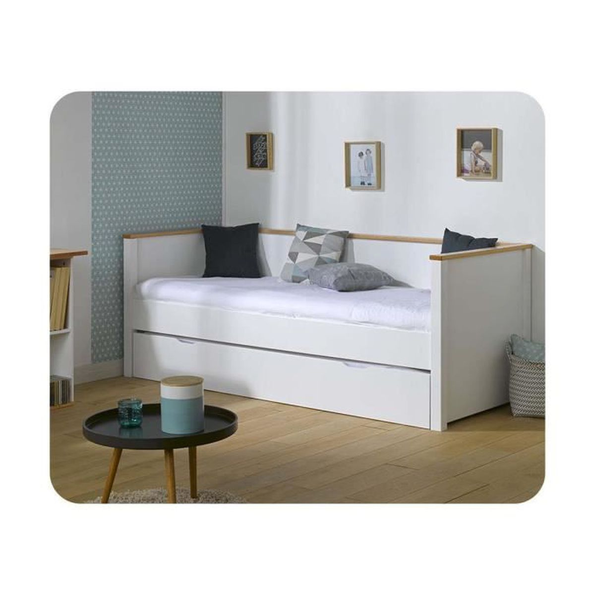 pack lit gigogne nova 80x200 cm avec 2 matelas achat vente lit gigogne pack lit gigogne nova. Black Bedroom Furniture Sets. Home Design Ideas