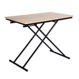 TABLE BASSE UP & Down Table basse relevable décor bois pied no