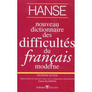 AUTRES LIVRES Nouveau dictionnaire difficultes francais moderne