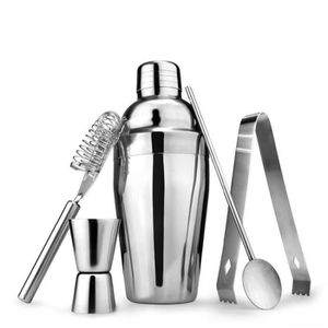 SHAKER - SET COCKTAIL  5Pcs - Set Cocktail shaker en acier inoxydable Bar