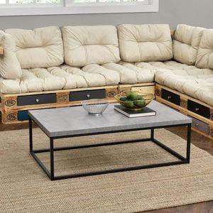 TABLE BASSE [en.casa]® Table basse moderne - Plateau MDF - pie