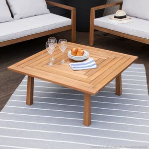 Table basse de jardin carrée 90x90cm en Acacia CARTULI-
