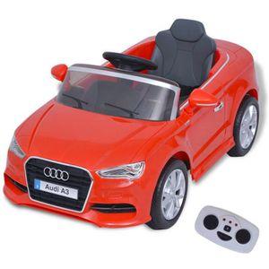 VOITURE ELECTRIQUE ENFANT Voiture électrique enfant - Audi A3 - Rouge - Véhi