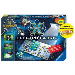 EXPÉRIENCE SCIENTIFIQUE SCIENCE X RAVENSBURGER Electro'Fabric