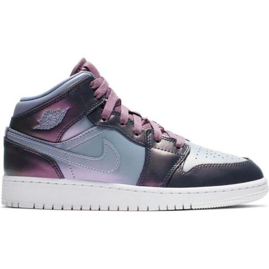Chaussure de Basketball Fille Nike Air Jordan 1 Mid GS Fille ...