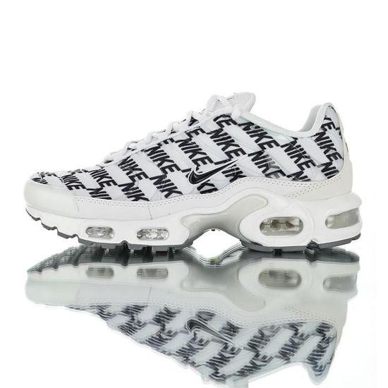 Baskets Nike Air Max TN Plus TXT Tuned 1 Homme Blanc Blanc Blanc ...