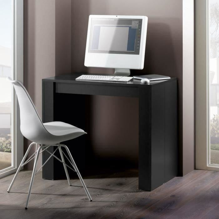 bureau console extensible 2 en 1. Black Bedroom Furniture Sets. Home Design Ideas