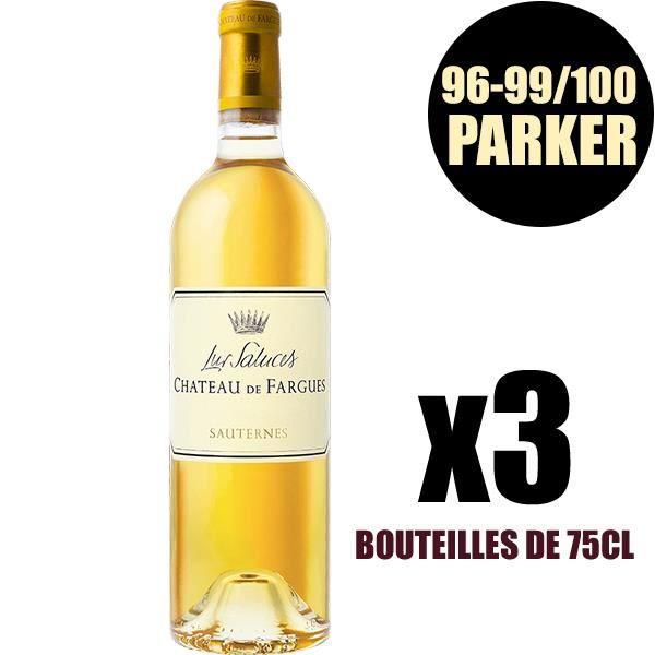 X3 Château de Fargues 2015 75 cl AOC Sauternes Vin Blanc Liquoreux