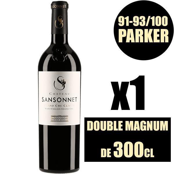 X1 Château Sansonnet 2014 300 cl AOC Saint-Emilion Grand Cru Classé Rouge Vin Rouge