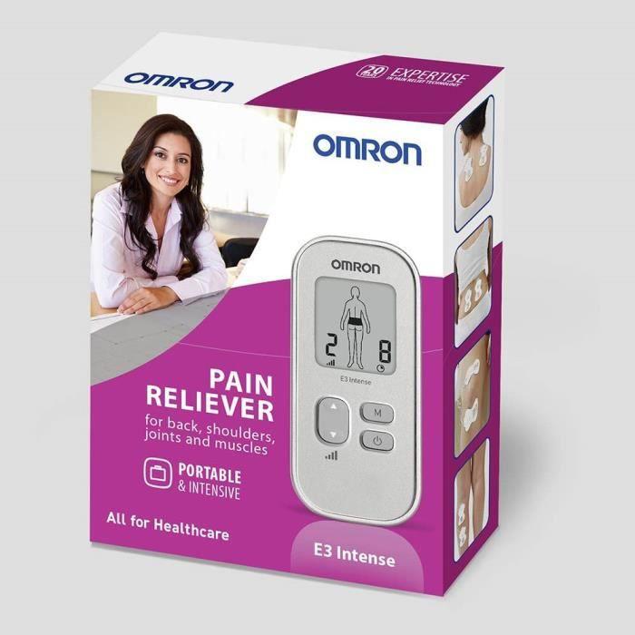 Stimulateurs musculaires et nerveux OMRON E3 Électrostimulateur TENS, Appareil Antidouleur sans Medicament, Argent 428265