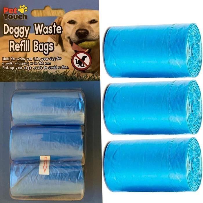 Pelles et sacs ramasse-crottes chien Pet Touch Lot de 60 Sacs de Recharge pour Chien 63317