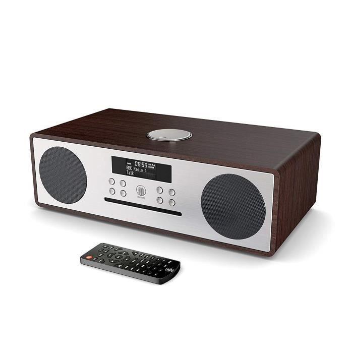 Majority Oakington - 30W Hi-FI Lecteur CD - Radio numérique Dab-Dab+ - Radio FM - Télécommande - Bluetooth - Connexion TV - Révei