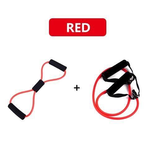 1 + 8 mot Type ensemble élastique traction corde Yoga caoutchouc résistance à la traction bandes po - Modèle: Rouge - HSJSTLDA06709