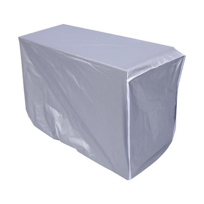 Couvercle du climatiseur extérieure imperméable anti-poussière anti-soleil anti-pluie pour la maison(n ° 1)(80 * 28 * 54cm)---RAC