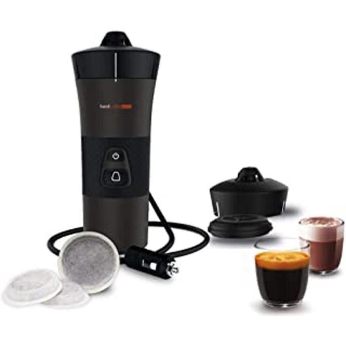 Handcoffee Auto 48264 + Accessoire Multi-Boissons 48274 - Machine A Cafe, Cafetiere Portable À Dosette Senseo Pour Voiture 12V
