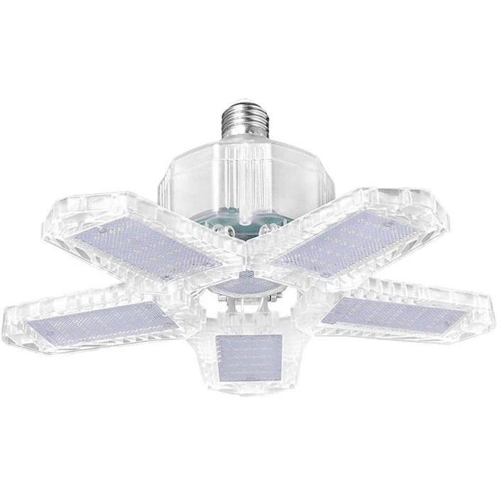 Garage Lumière80-100-120W W LED Light Shop5200 Lumen Déformable Garage Éclairage5 réglable Panneaux Plafonniers pour sousSol Ateli