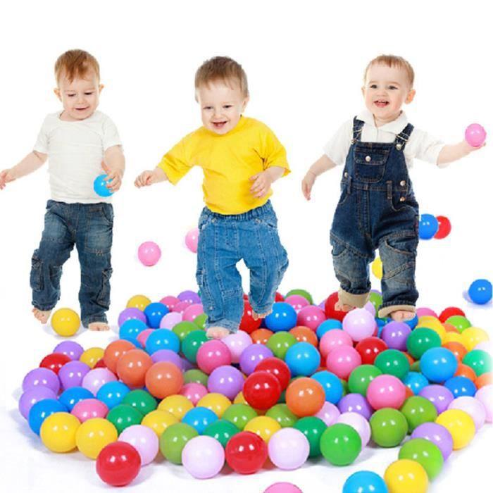 JERSEY doux bébé enfants BALL PIT avec 200 boules Cadeau
