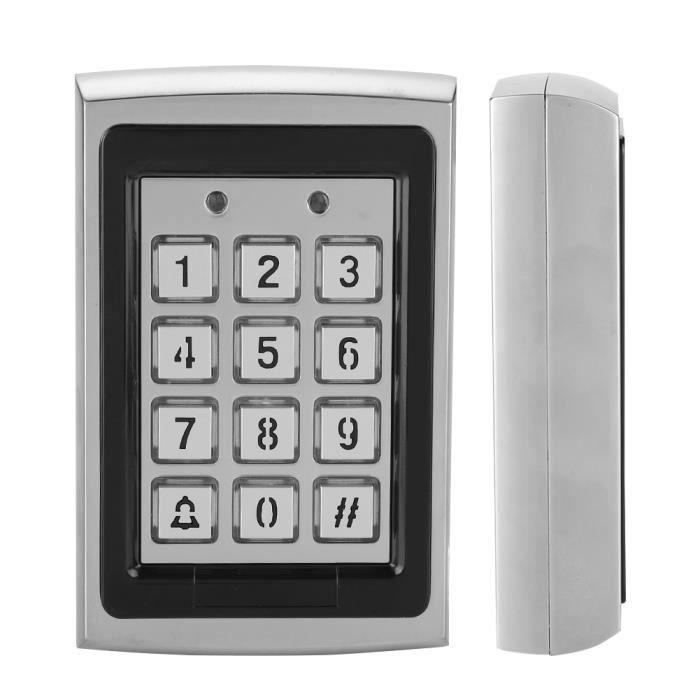 Qiilu Contrôle d'accès Clavier de contrôle d'accès de porte de mot de passe de lecteur de carte RFID en métal 125KHz supérieur