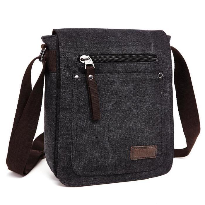 sac bandoulière,Z.L.D. Sac à bandoulière de bonne qualité pour femmes, sacoche diagonale de grande capacité en toile, sac d'école -D