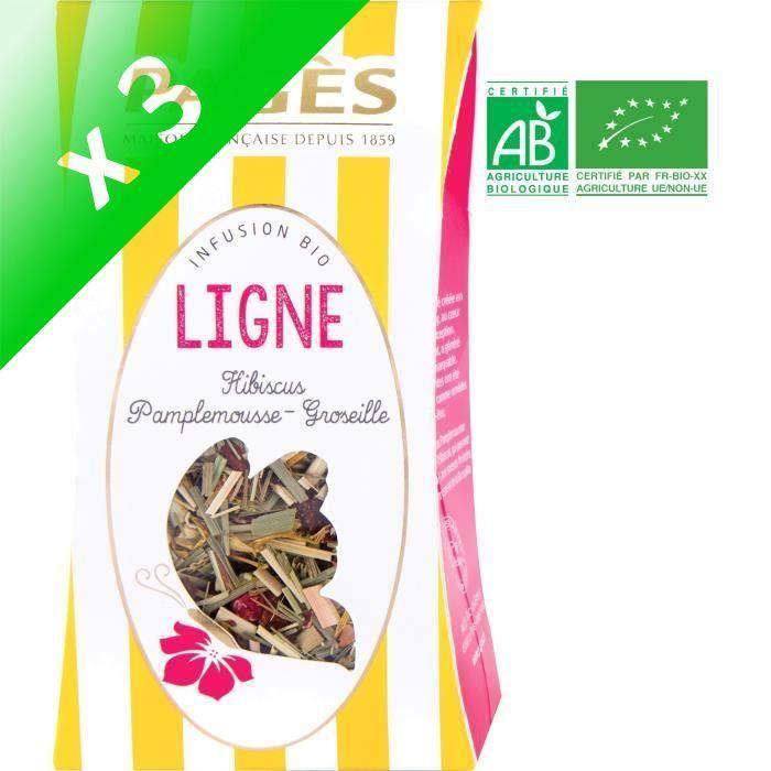 [LOT DE 3] PAGES Infusion Ligne - Hibiscus, Pamplemousse, Groseille - Vrac - Bio