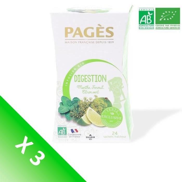 [LOT DE 3] Infusion digestion (Menthe, fenouil, citron vert)