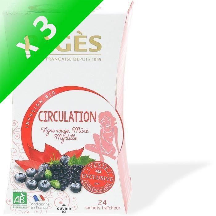 [LOT DE 3] Infusion circulation (Vigne rouge, mûre, myrtille)