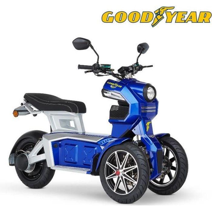 Scooter moto électrique 3 roues adulte Good year EGO2 DOOHAN ITANK 50 bleu 70 km autonomie Moteur BOSCH