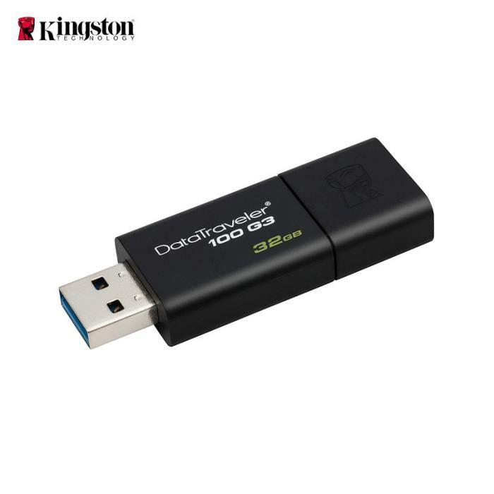 Clé Usb Kingston Dt100g3 Usb 3.0 Haute Vitesse 32Go Flash Drive Mémoire Boutique Signally