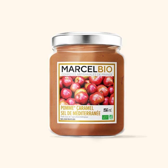 Marcel Bio - Compote pomme caramel sel de Méditerranée Bio 156ml
