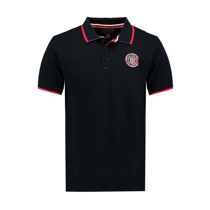Polo Homme Geographical Norway Kalway Noir