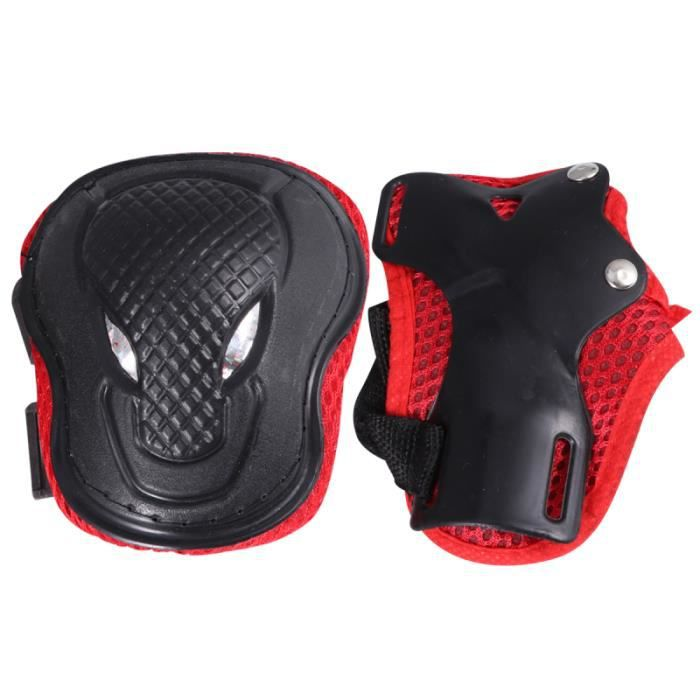 6 pcs en 1 Set Adultes Roller-skate Protection Gear Ski Roller Protector Sports Protectors Kit Skateboard Bike ROLLER IN LINE