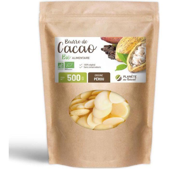 Beurre de Cacao Bio en pastilles – 500g