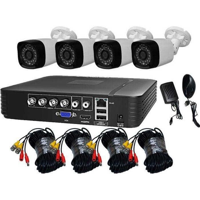 TEETAN KIT DE VIDEOSURVEILLANCE 4 CAMERAS 1080P IP65