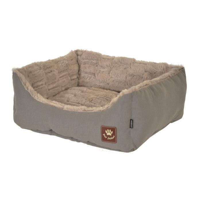 VADIGRAN Panier Asma - 60 x 48 cm - Taupe et gris - Pour chiens